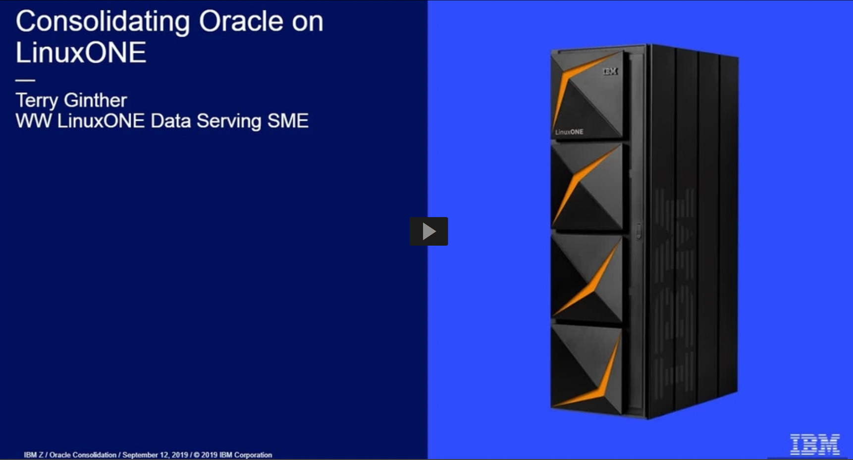 MediaCenter - Consolidating Oracle on LinuxONE thumbnail