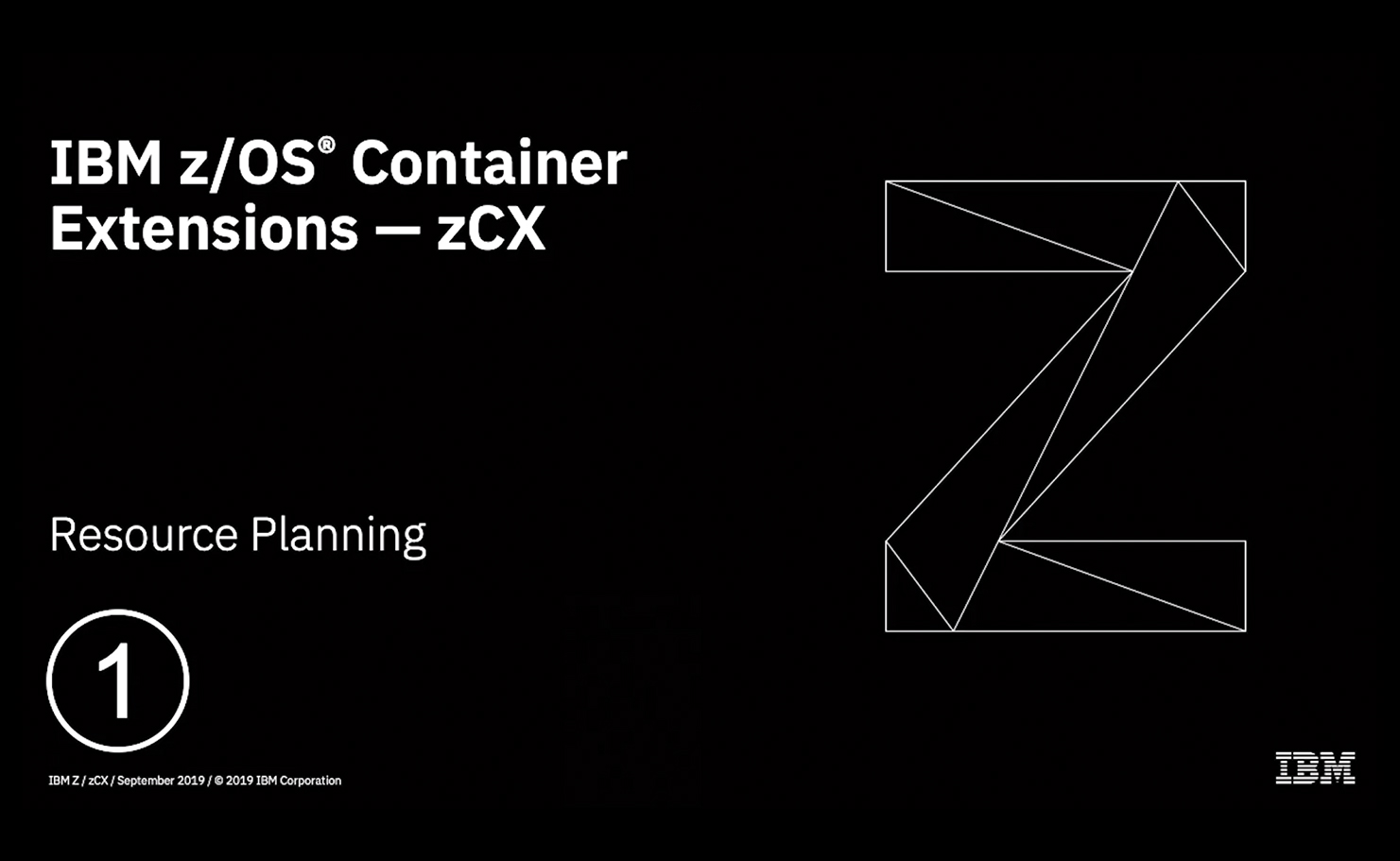 IBM z/OS Container Extensions